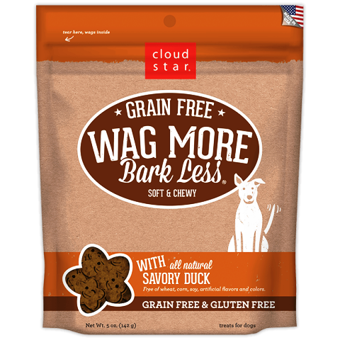 Cloud Star Wag More Bark Less Soft Bakes Dog Treats with Savory Duck - 5 oz.