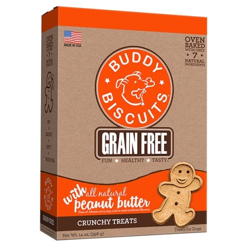Buddy Biscuits Grain Free Peanut Butter Crunchy Treats for Dogs - 14 oz.