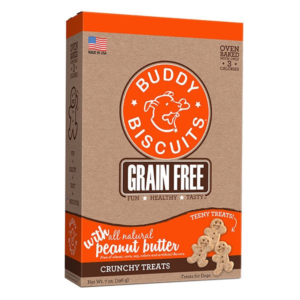 Buddy Biscuits Grain Free ITTY BITTY Peanut Butter Crunchy Treats for Dogs - 7 oz.