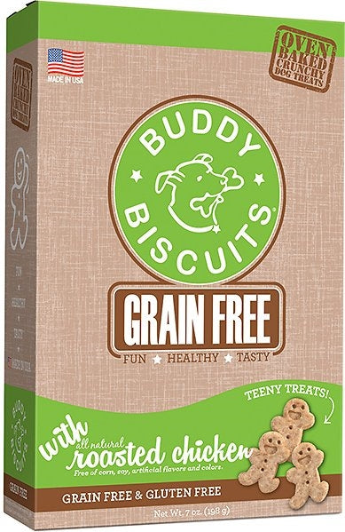 Buddy Biscuits Grain Free ITTY BITTY Roasted Chicken Crunchy Treats for Dogs - 8 oz.