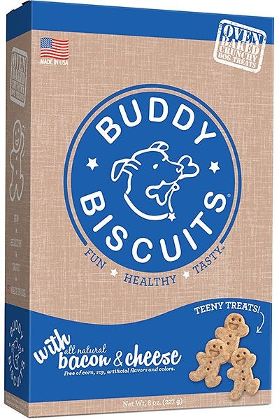 Buddy Biscuits Grain Free ITTY BITTY Bacon & Chees Crunchy Treats for Dogs - 8 oz.