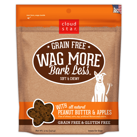 Cloud Star Wag More Bark Less Soft Bakes Dog Treats with Peanut Butter & Apples - 5 oz.