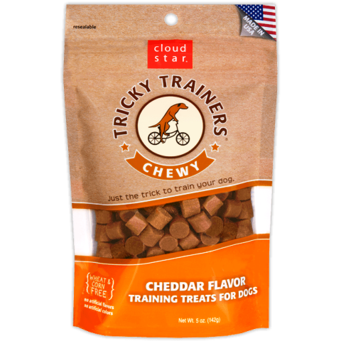 Cloud Star Tricky Trainers CHEWY Cheddar Flavor Training Treats for Dogs - 5 oz.