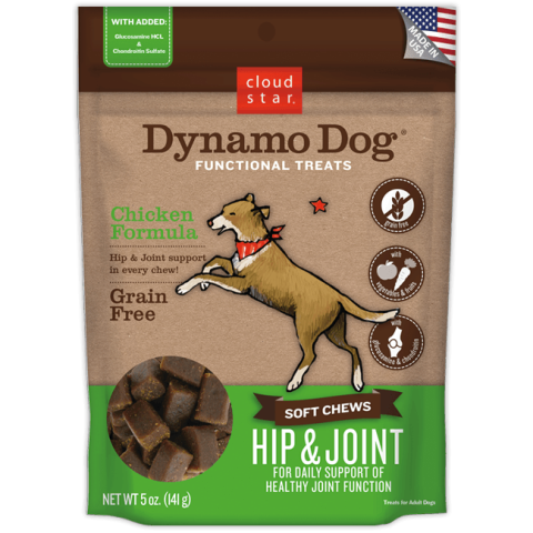 Cloud Star Dynamo Dog with Chicken Hip & Joint Functional Soft Treats - 5 oz.