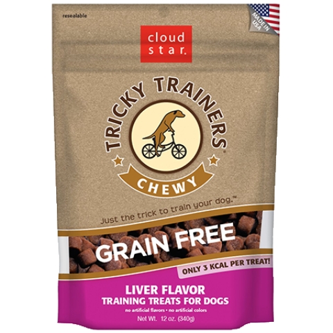 Cloud Star Tricky Trainers Grain Free Chewy Liver Flavor Training Treats for Dogs - 5 oz.