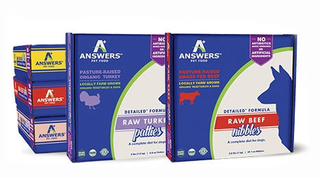 Answers Frozen Raw Beef Patties for Dogs - 4.0 lbs.