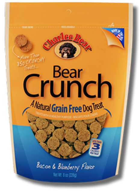 Charlie Bear Crunch Grain Free Bacon & Blueberry Dog Treat - 8 oz.