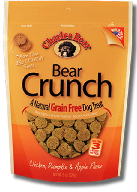 Charlie Bear Crunch Grain Free Chicken, Pumpkin & Apple Dog Treat - 8 oz.