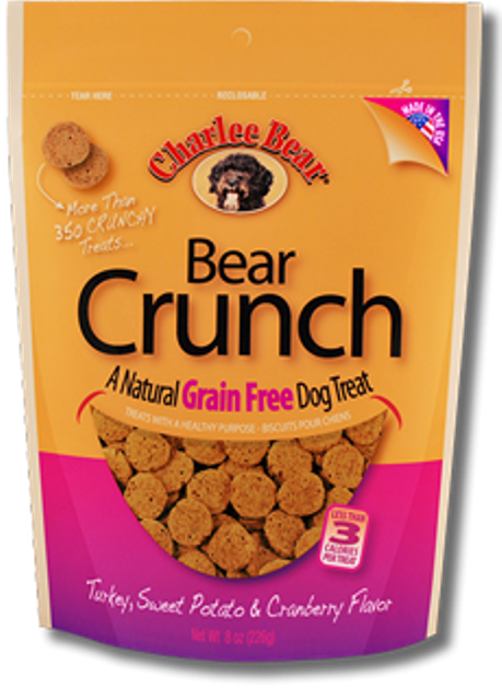 Charlie Bear Crunch Grain Free Turkey, Sweet Potato & Cranberry Dog Treat - 8 oz.
