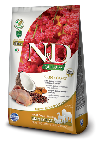 Farmina N&D Quinoa Skin & Coat Quail Dog Food