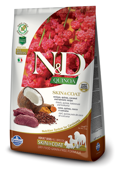 Farmina N&D Quinoa Skin & Coat Venison Dog Food