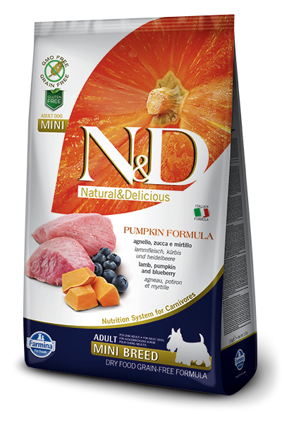Farmina N&D Pumpkin Lamb & Blueberry Mini Breed Adult Dog Food