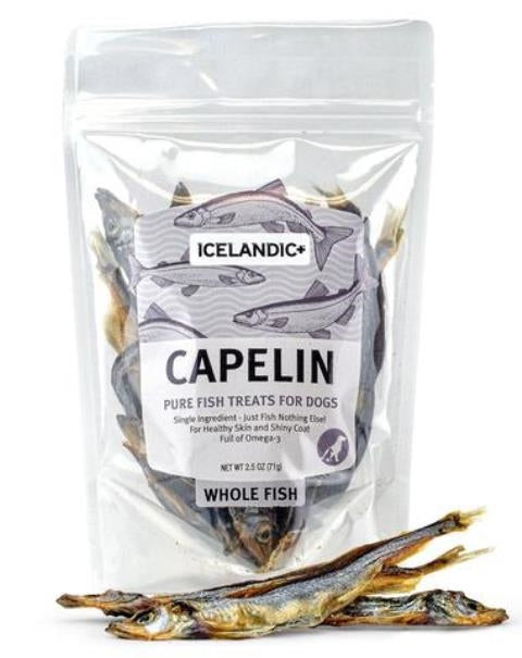 Icelandic+ Capelin Whole Fish Dog Treat - 2.5-oz