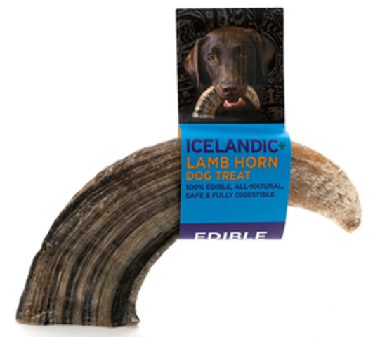Icelandic+ Lamb Horn Dog Chew Treat - Large