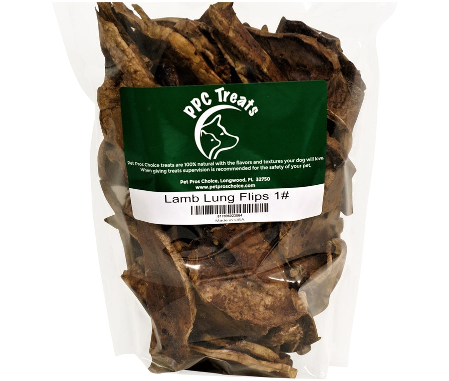 Pet Pros Choice Lamb Lung Flips Dog Treats - 16 oz.
