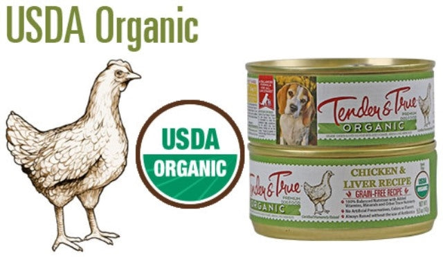 Tender & True Organic Chicken & Liver Dog Food - 5.5 oz.