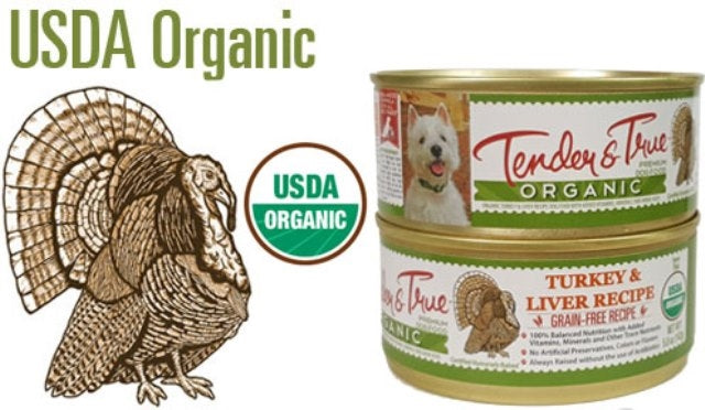 Tender & True Organic Turkey & Liver Dog Food - 5.5 oz.