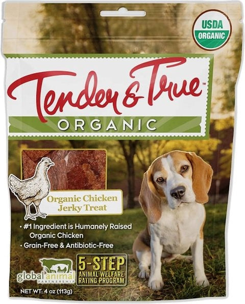 Tender & True Organic Chicken Jerky Dog Treat - 4 oz.