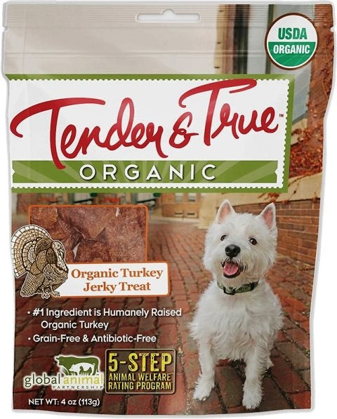 Tender & True Organic Turkey Jerky Dog Treat - 4 oz.