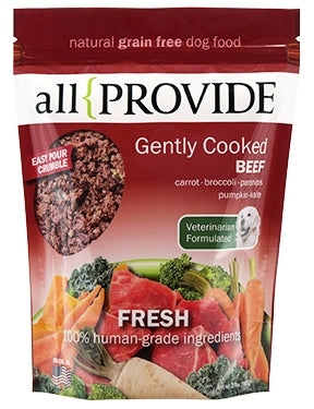 All Provide Gently Cooked Frozen Beef Recipe for Dogs - 2 lbs.