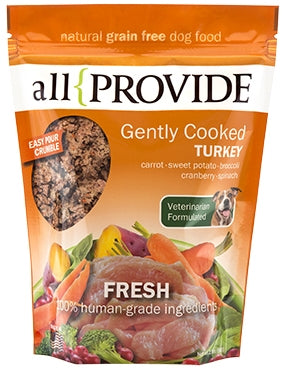 All Provide Gently Cooked Frozen Turkey Recipe for Dogs - 2 lbs.
