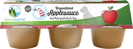 Green Coast Pet Unsweetened Applesauce for Dogs - (6) 4 oz.