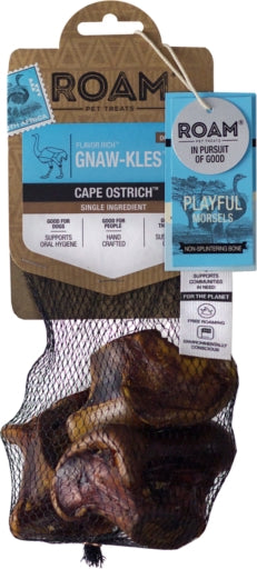 ROAM Gnaw-Kles Cape Ostrich Bone Dog Chew Treat - 3 pcs.