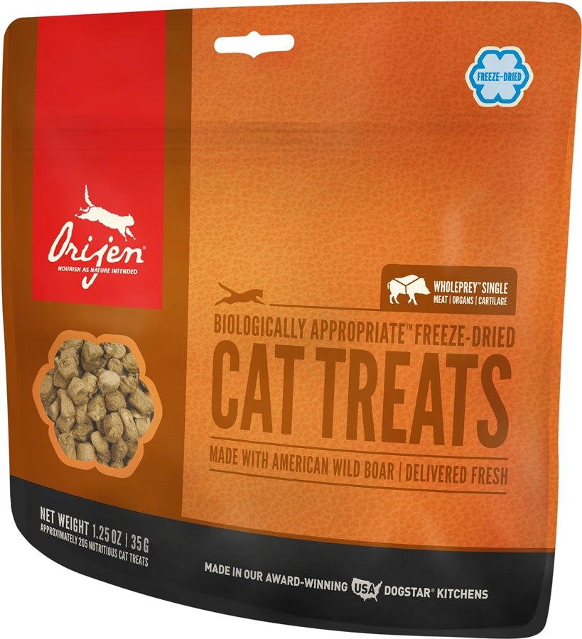 Orijen Freeze Dried Wild Boar Cat Treat - 1.25 oz.