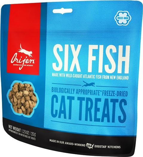 Orijen Freeze Dried Six Fish Cat Treat - 1.25 oz.