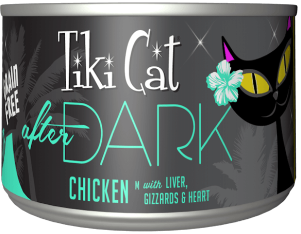 Tiki Cat Grain Free After Dark Chicken Cat Food - 6.0 oz.