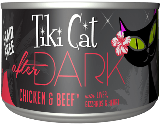 Tiki Cat Grain Free After Dark Chicken & Beef Cat Food - 6.0 oz.