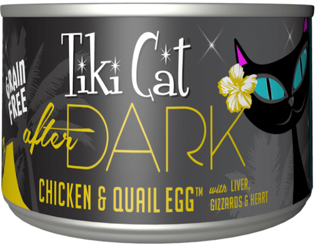 Tiki Cat Grain Free After Dark Chicken & Quail Egg Cat Food - 6.0 oz.