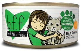 BFF by Weruva Tuna and Pumkin VALENTINE Recipe in Gravy for Cats - 5.5 oz.