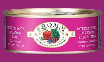 Fromm Chicken, Duck & Salmon Pate' for Cats - 5.5 oz.