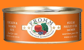 Fromm Chicken & Salmon Pate' for Cats - 5.5 oz.