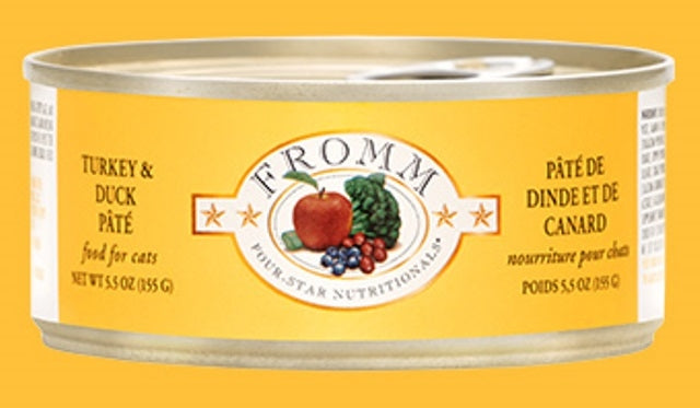Fromm Turkey & Duck Pate' for Cats - 5.5 oz.