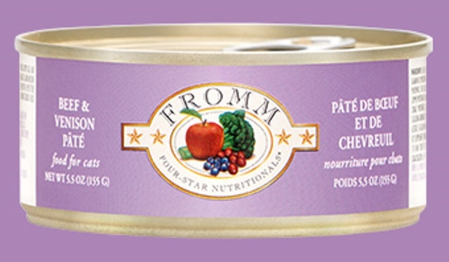 Fromm Beef & Venison Pate' for Cats - 5.5 oz.