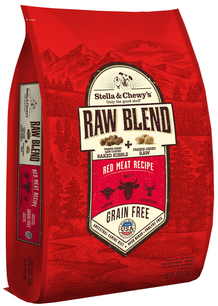 Stella & Chewy's Grain Free Raw Blend Red Meat Recipe Dog Food