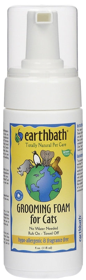 Earthbath Grooming Foam for Cats - Hypo-Allergenic & Fragrance Free