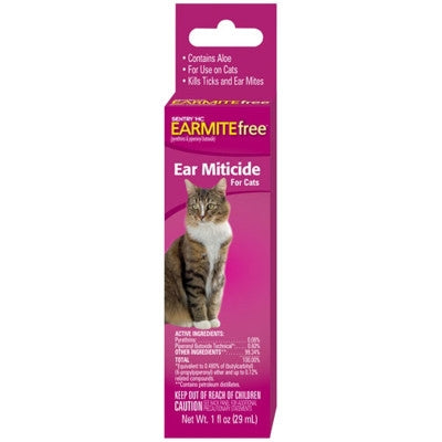 Zema Ear Miticide for Cats - 1fl oz