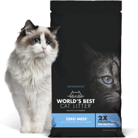 World's Best Cat Litter ZERO MESS  High-Performance Clumping Cat Litter