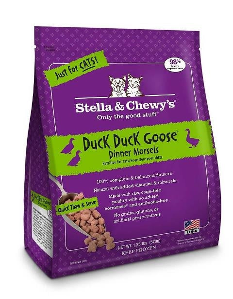 Stella & Chewy's Frozen Duck Duck Goose Dinner Morsels for Cats - 3.5 oz.