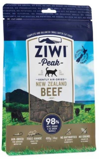 Ziwi Peak Gently Air-Dried New Zealand Beef Cat Food - 14 oz.