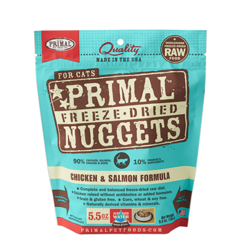 Primal Freeze Dried Chicken & Salmon Formula for Cats
