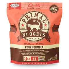 Primal Frozen Raw Pork for Cats - 3 lbs.