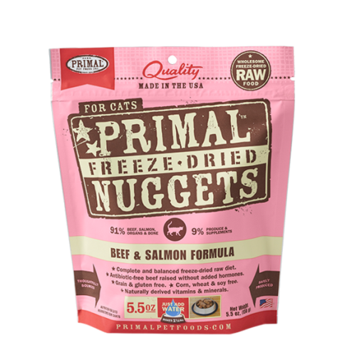 Primal Freeze Dried Beef & Salmon Formula for Cats