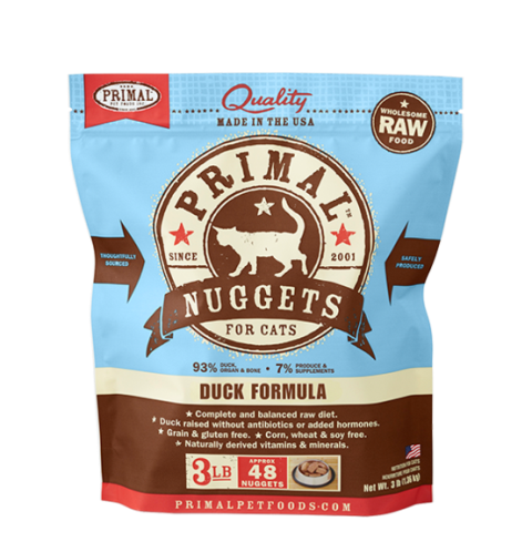 Primal Frozen Raw Duck for Cats - 3 lbs.