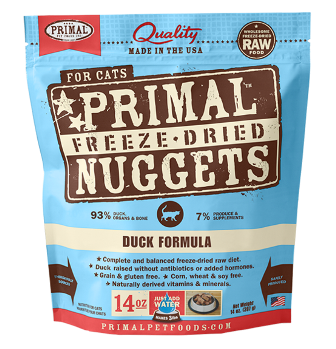 Primal Freeze Dried Duck Formula for Cats