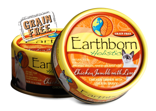 Earthborn Holistic Chicken Jumble with Liver Grain Free Cat Food - 5.5 oz.