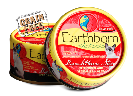 Earthborn Holistic RanchHouse Stew Beef Dinner Grain Free Cat Food - 5.5 oz.